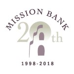 Mission Bank 20th Anniversary Logo